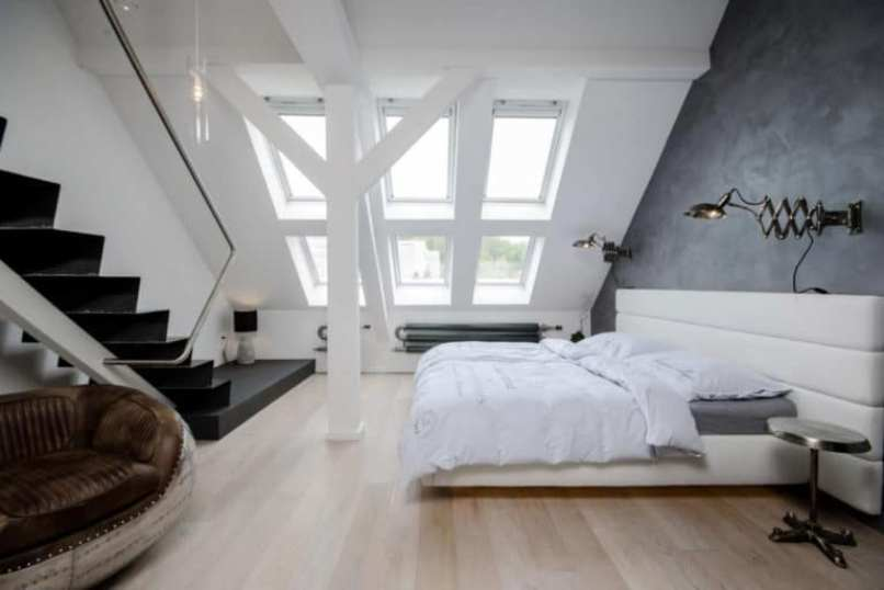 Attic For Bedroom With Large Window