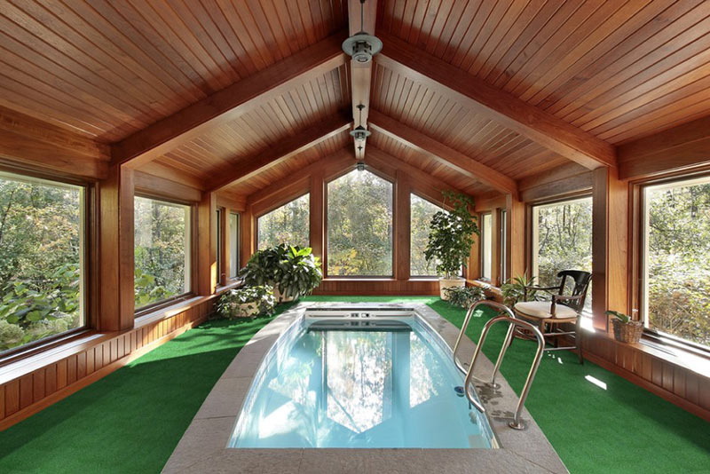 Beautiful Indoor Pool With Plant