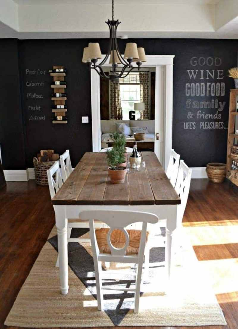Chalkboard At Dining Room