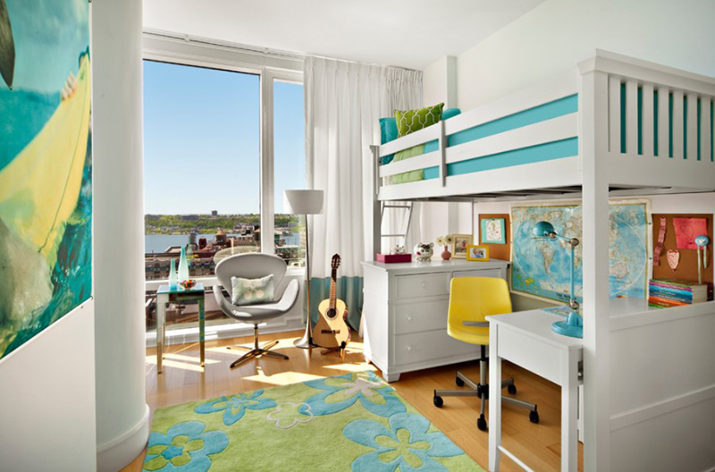 Cheerful City Style Bedroom
