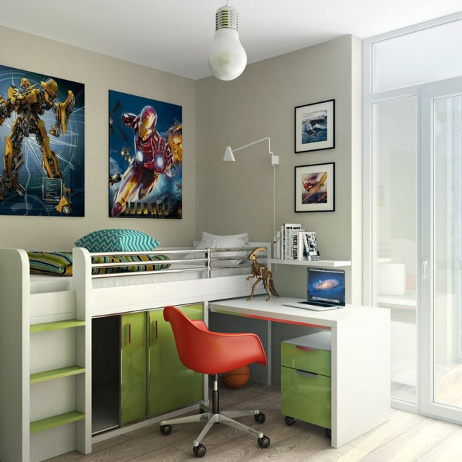 Cute Design With Loft Bed