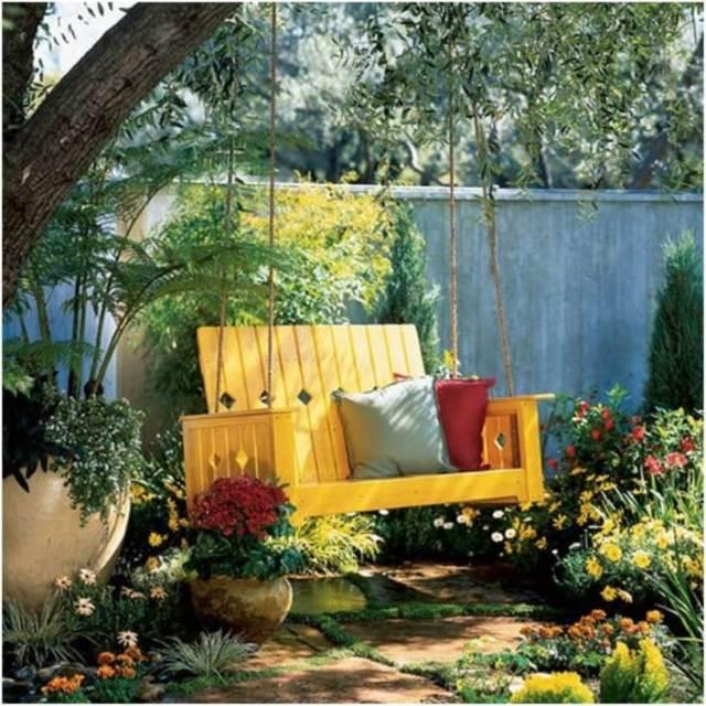 Dandelion High Back Porch Swing
