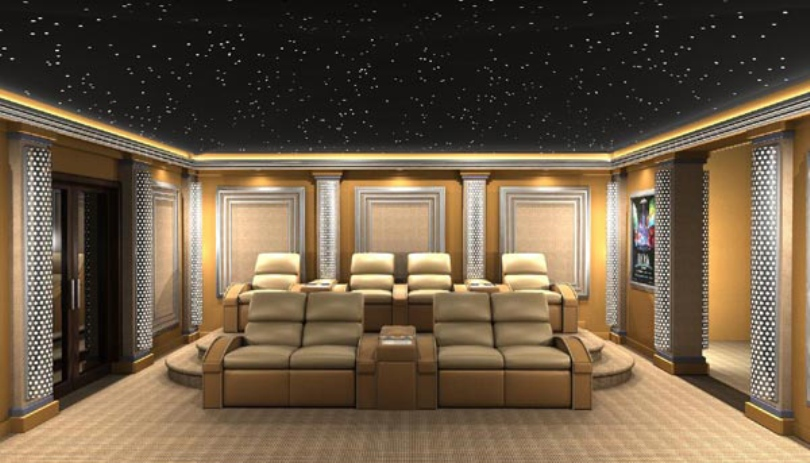 Dreamy Futuristic Home Theater