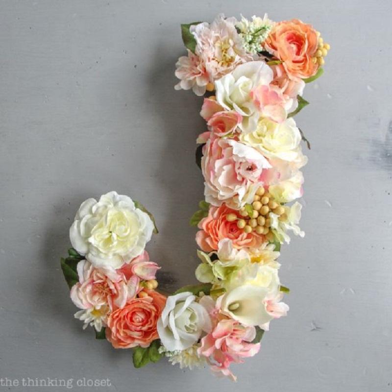 Flower Monogram Letter