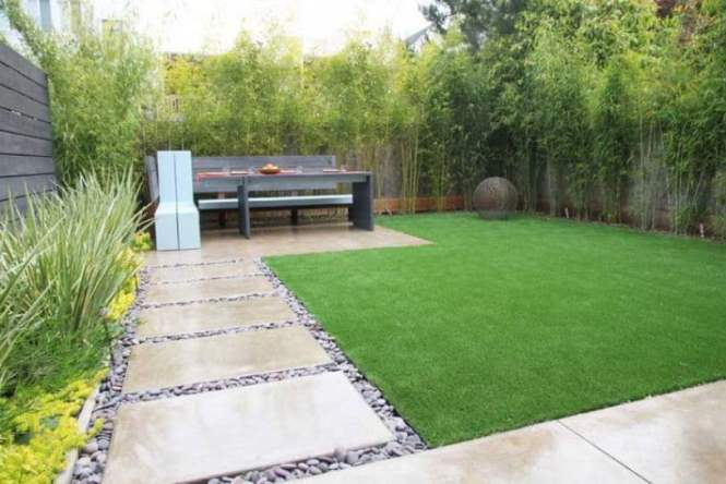 Garden Plot With Pebble