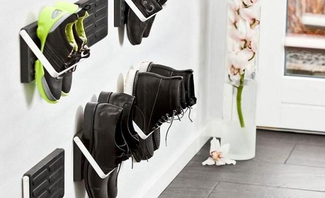 Inventive Modern Wall Mounted Shoe Rack