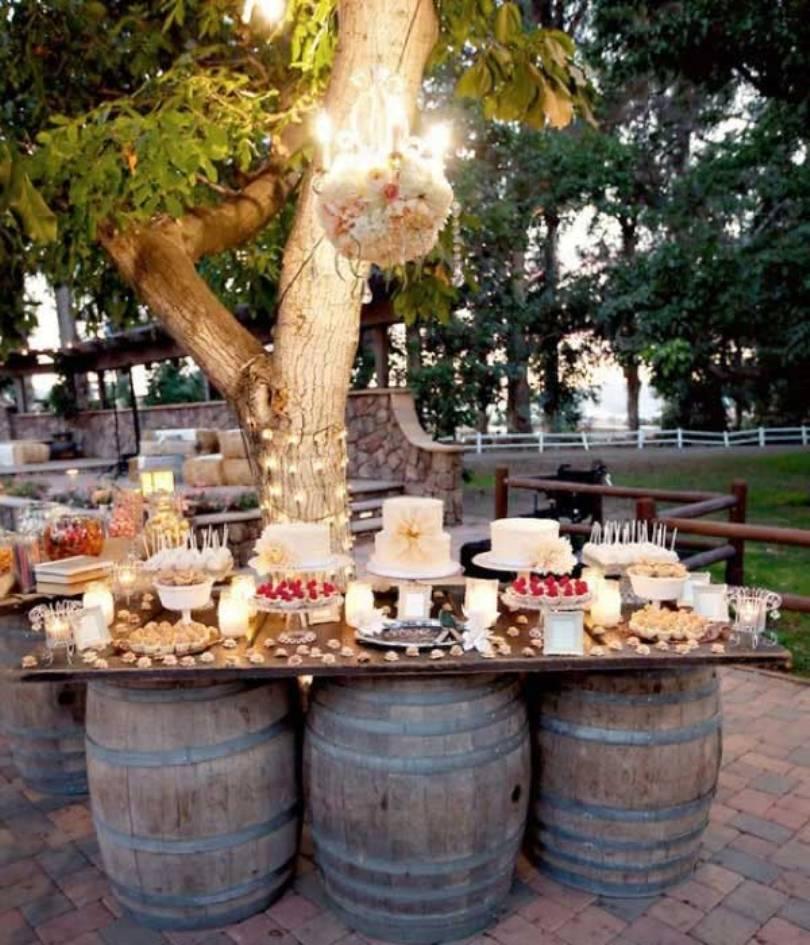 Old Wine Barrel Table