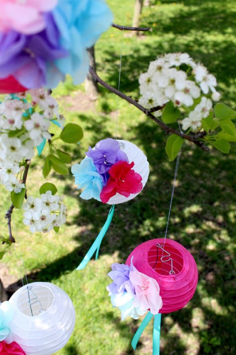 Paper Flower Lanterns