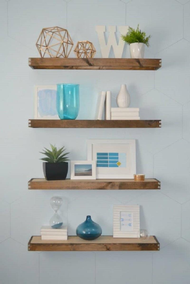 Rustic Floating Shelves