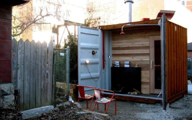 Sauna In A Shipping Container