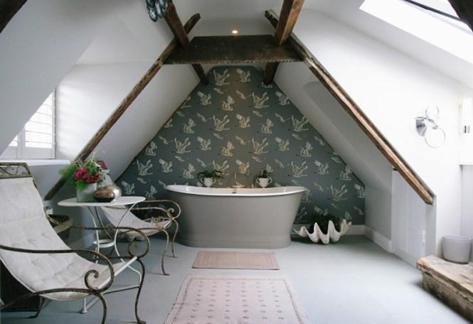 Shabby Chic Attic Bathroom