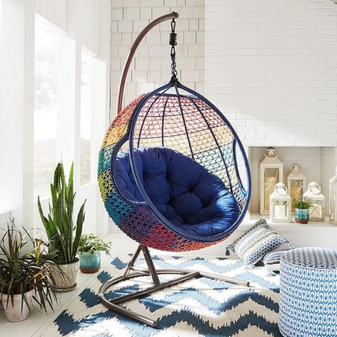 Rainbow Ombré Hanging Chair