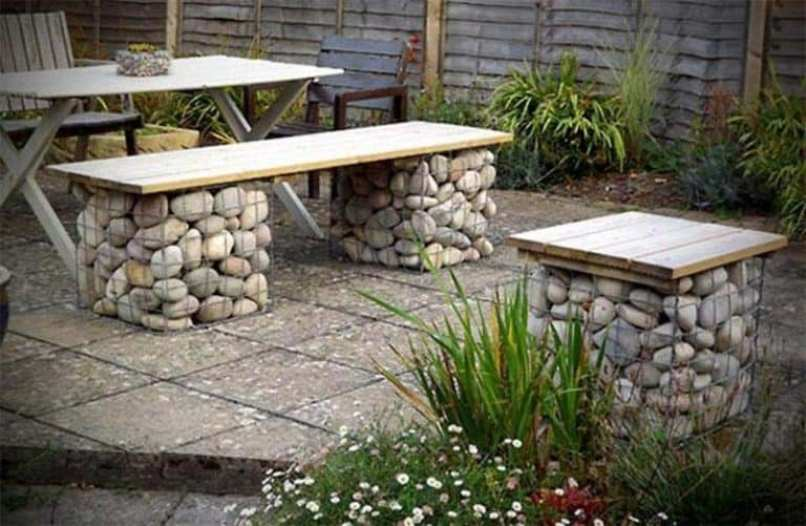 Unique Combination Of Wood And Stone