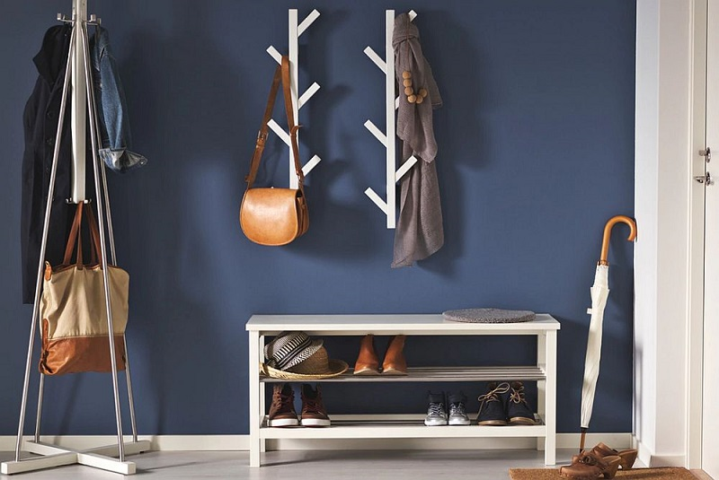Bench With Shoe Storage In Black