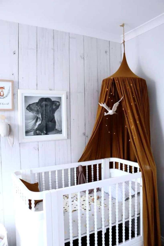 Fairy Lights Over Classic Crib
