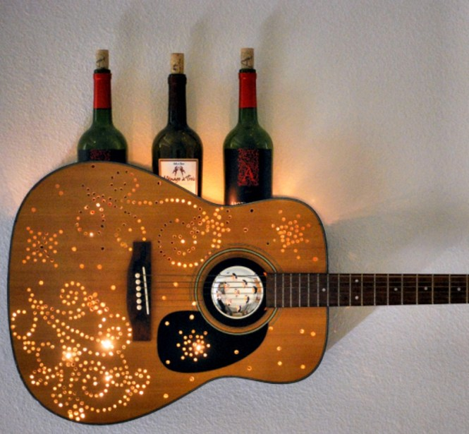 Guitar Wine Rack