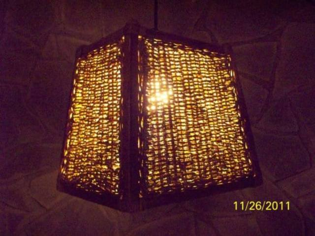 Hanging Lampshade Using Basket