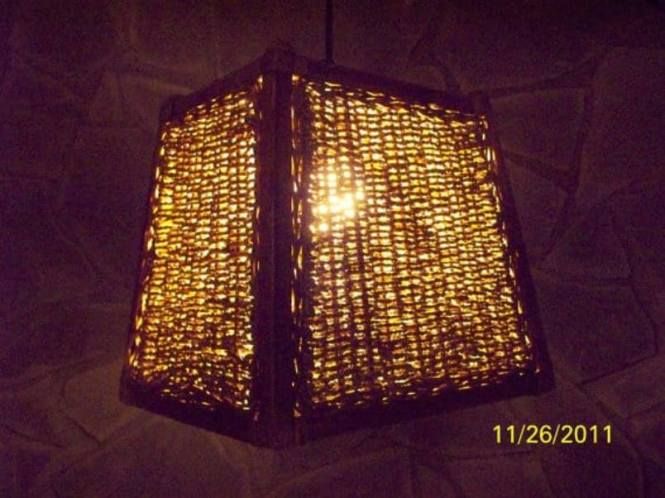 Hanging Lampshade Using Basket