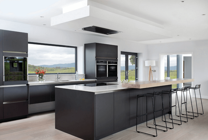 Minimal Kitchen With View