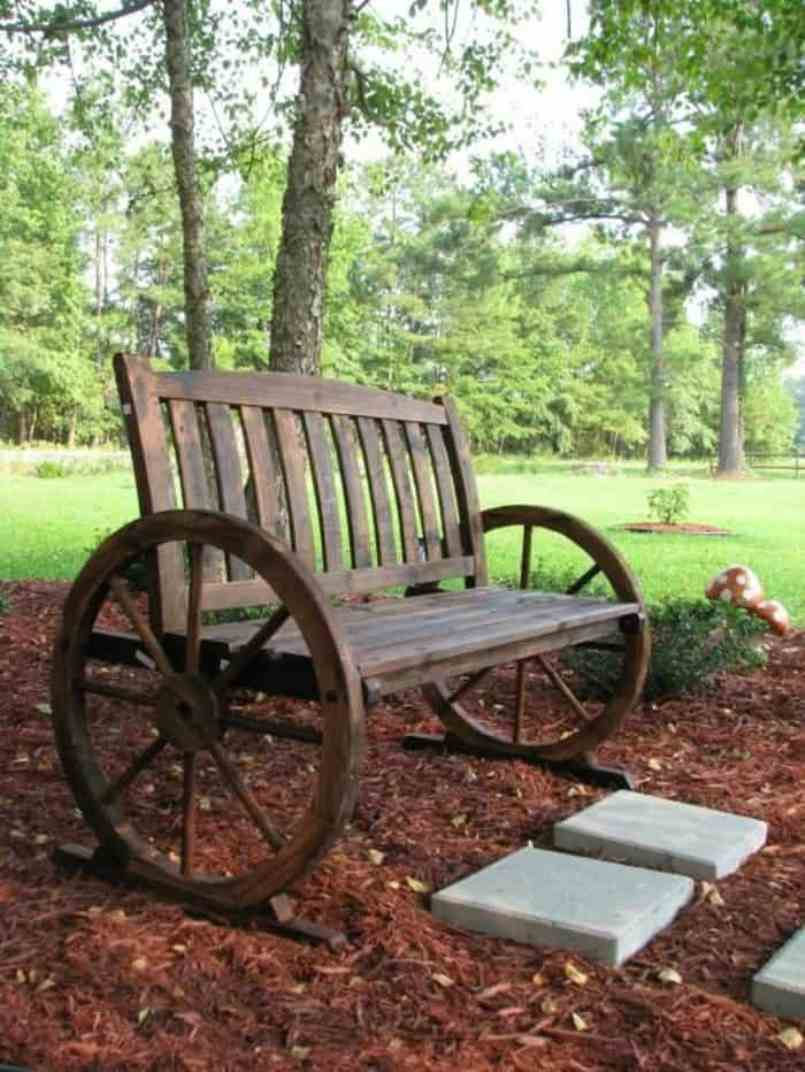 Rustic Garden Bench Wheels