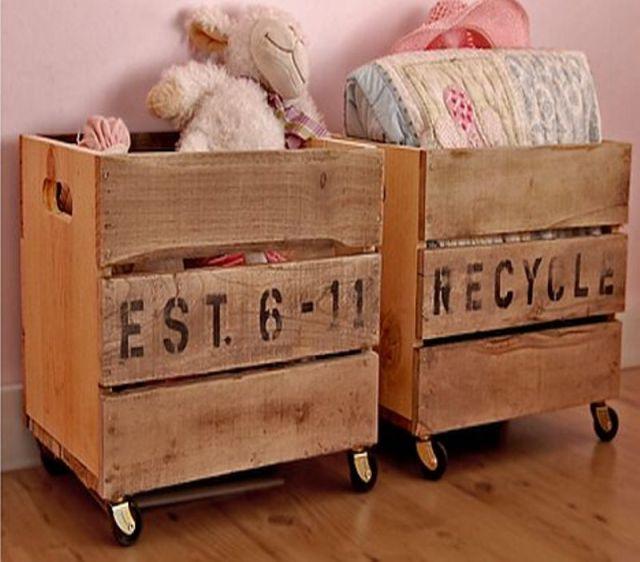 Vintage Crates On Wheels