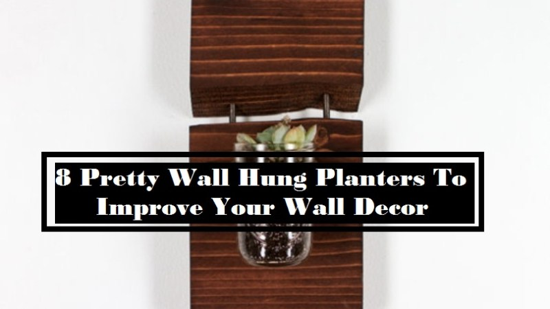 8 Pretty Wall Hung Planters To Improve Your Wall Decor