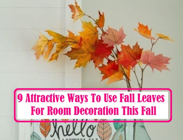 9 Attractive Ways To Use Fall Leaves For Room Decoration This Fall