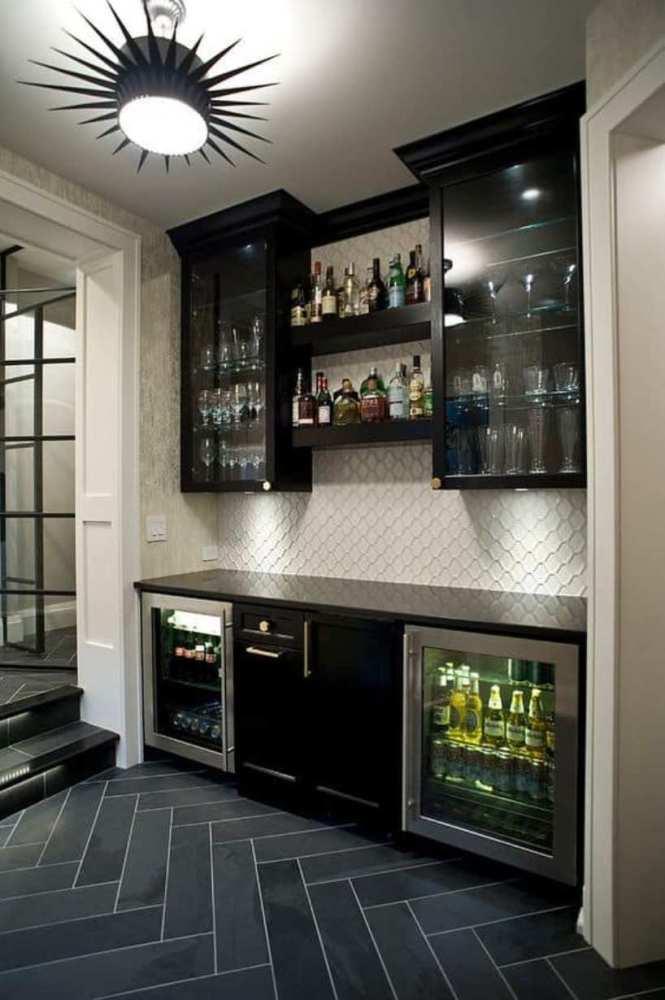 A Black Basement Bar