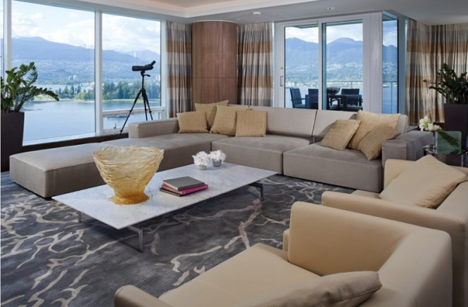 A Formal And Open Concept Living Room
