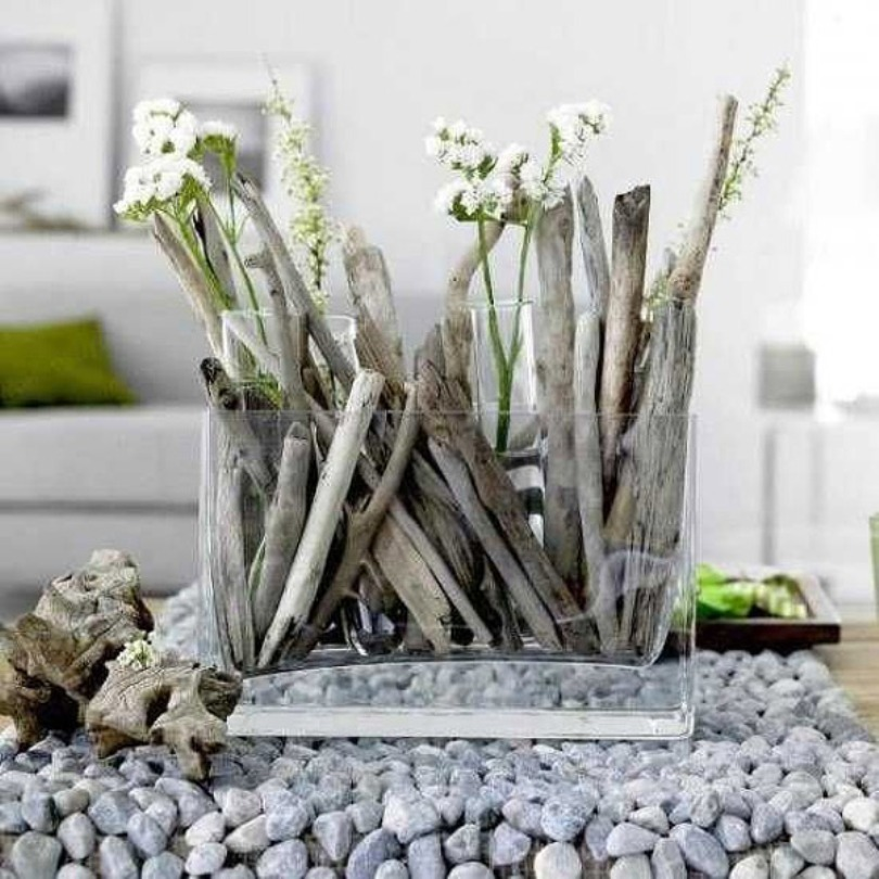 Add Driftwoods And Rocks
