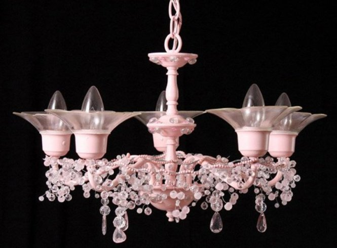 All Pink Chandeliers