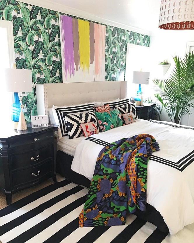 Bohemian Room With Geometric Lines