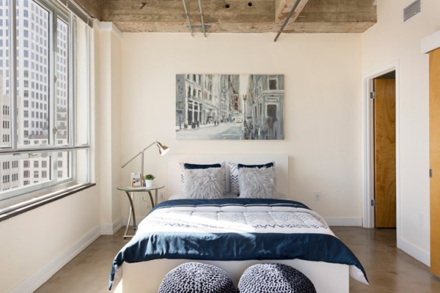 Condo Bedroom With Rustic Touch