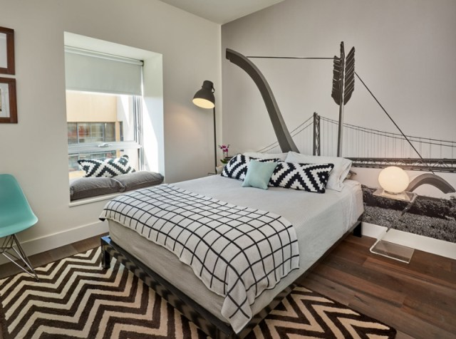 Condo Bedroom With Texture And Lines