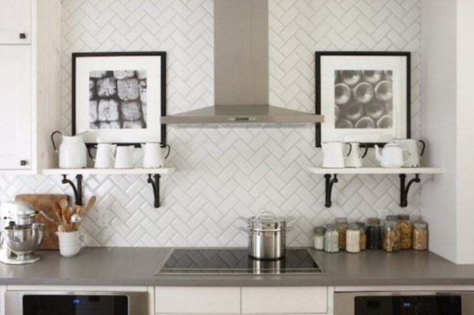 Herringbone Pattern Wall