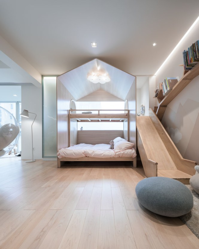 Kids Room With Canopy Bed And Slide