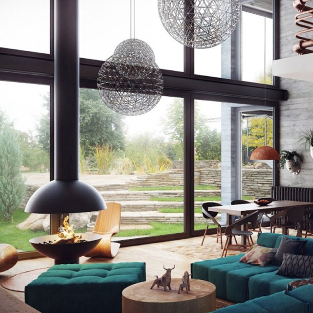 Living Room With Contemporary Atmosphere