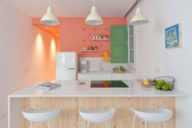 Minimalist Pink Kitchen