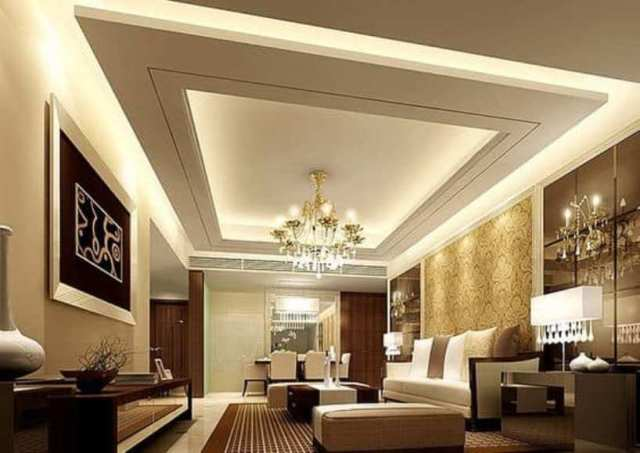 Modern Grey And White Ceiling