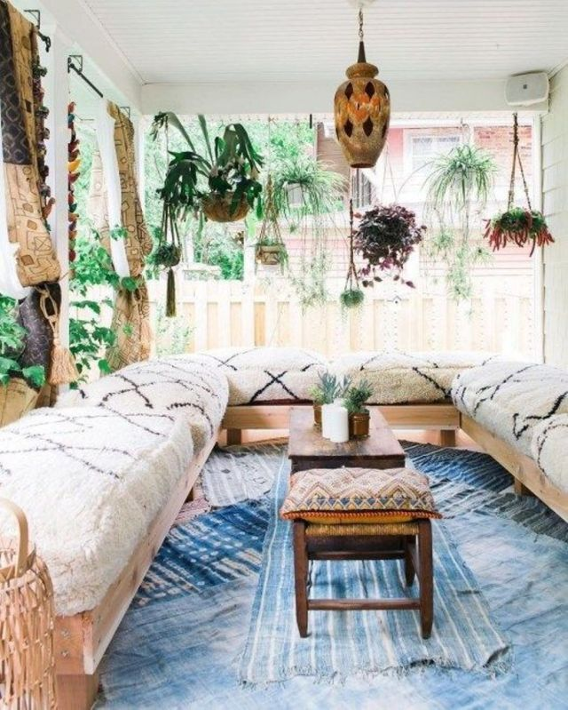 Moroccan Patio With A U Shaped Sofa