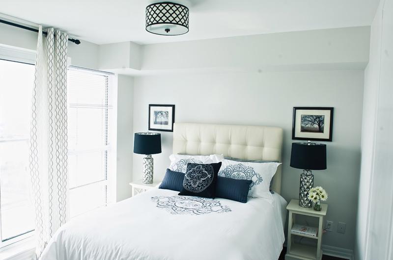 Symmetrical Design Condo Bedroom