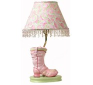 Table Lamp With Pink Boot