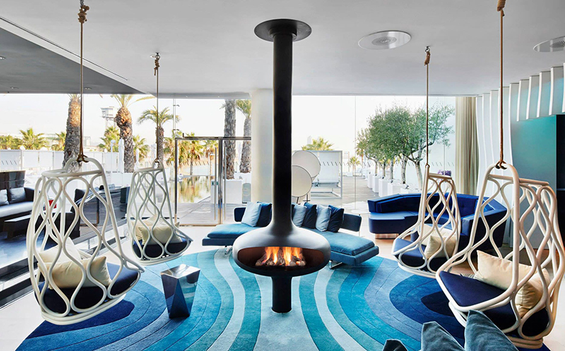Futuristic Looking Fireplace