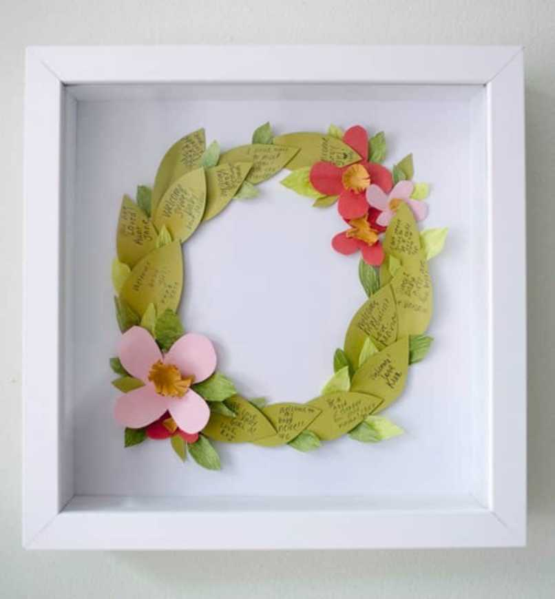 Leaf Shaped Floral Wreath