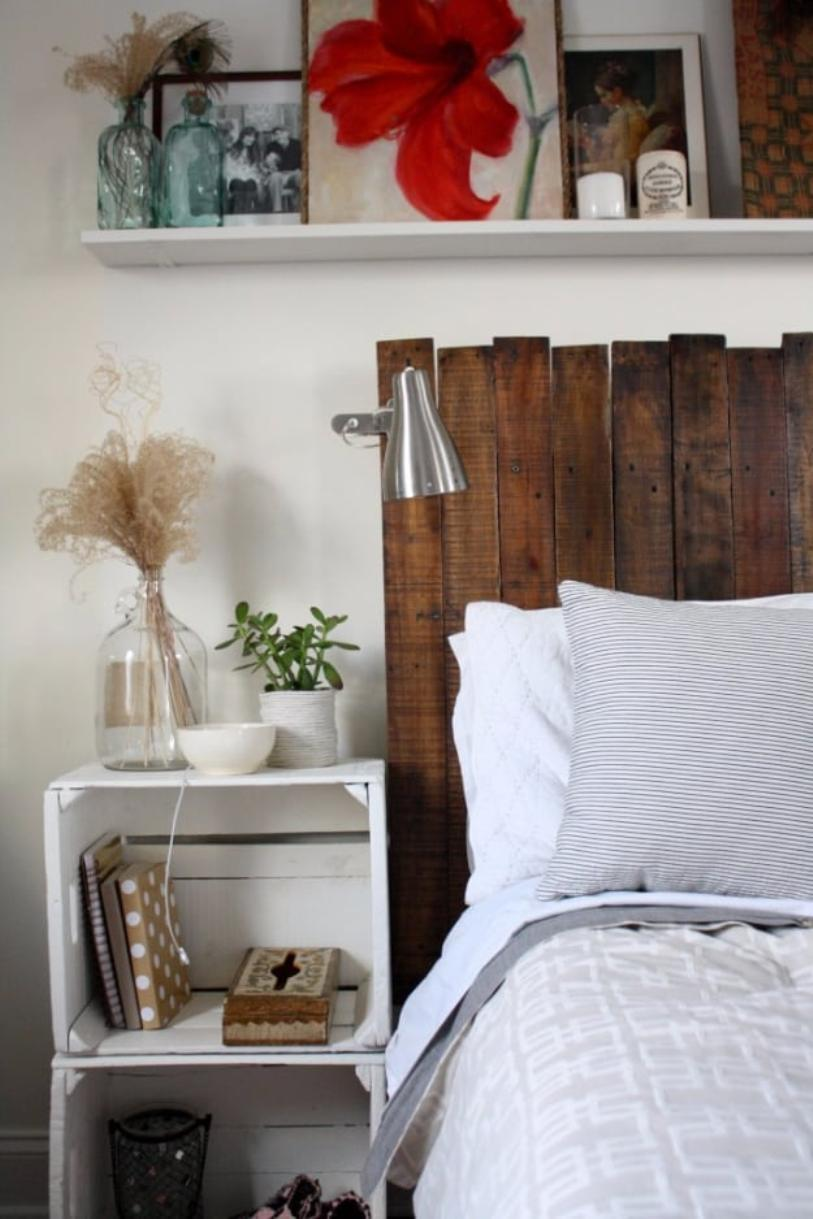 Sophisticated Pallet Headboard