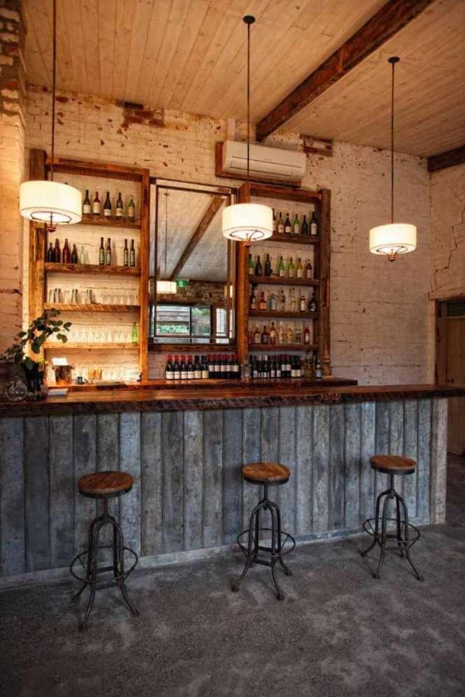 Stunning Rustic Basement Bar