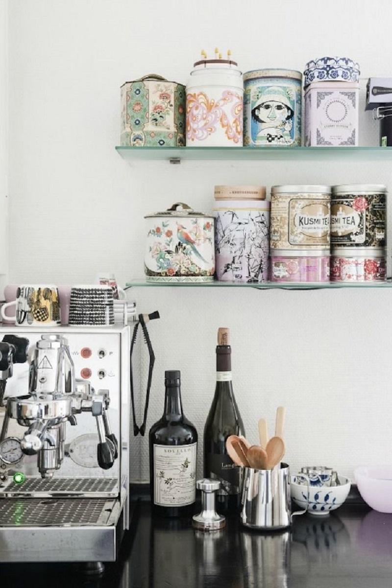 Wall Mounted Shelves Coffee Bar