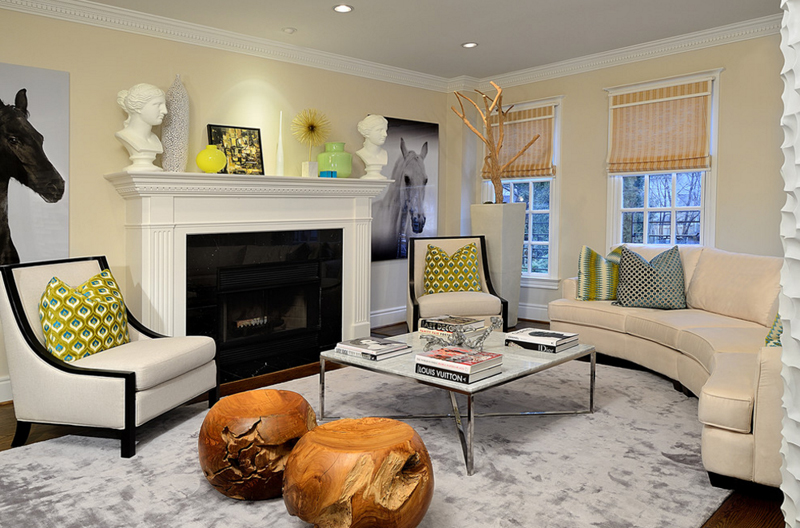 Calm And Dainty Living Room