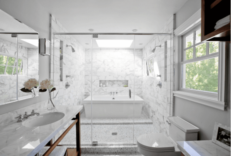 Double Shower And Tub