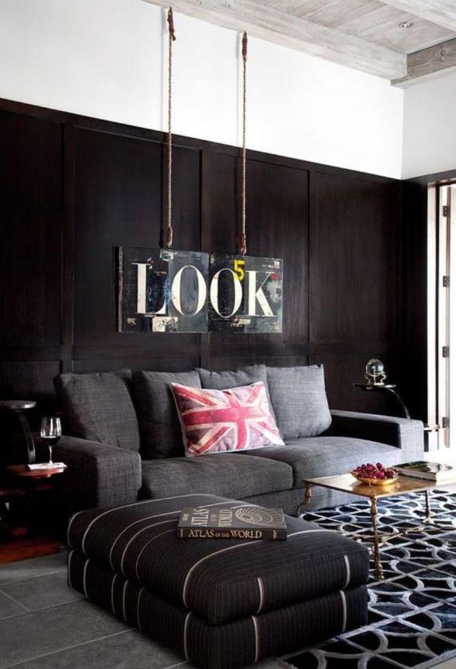 Contemporary Masculine Living Room